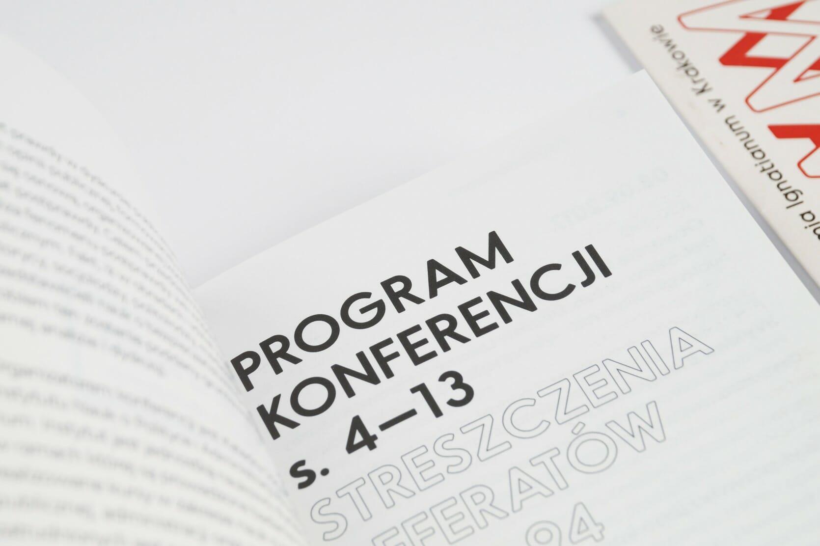 Programme — inside — closeup