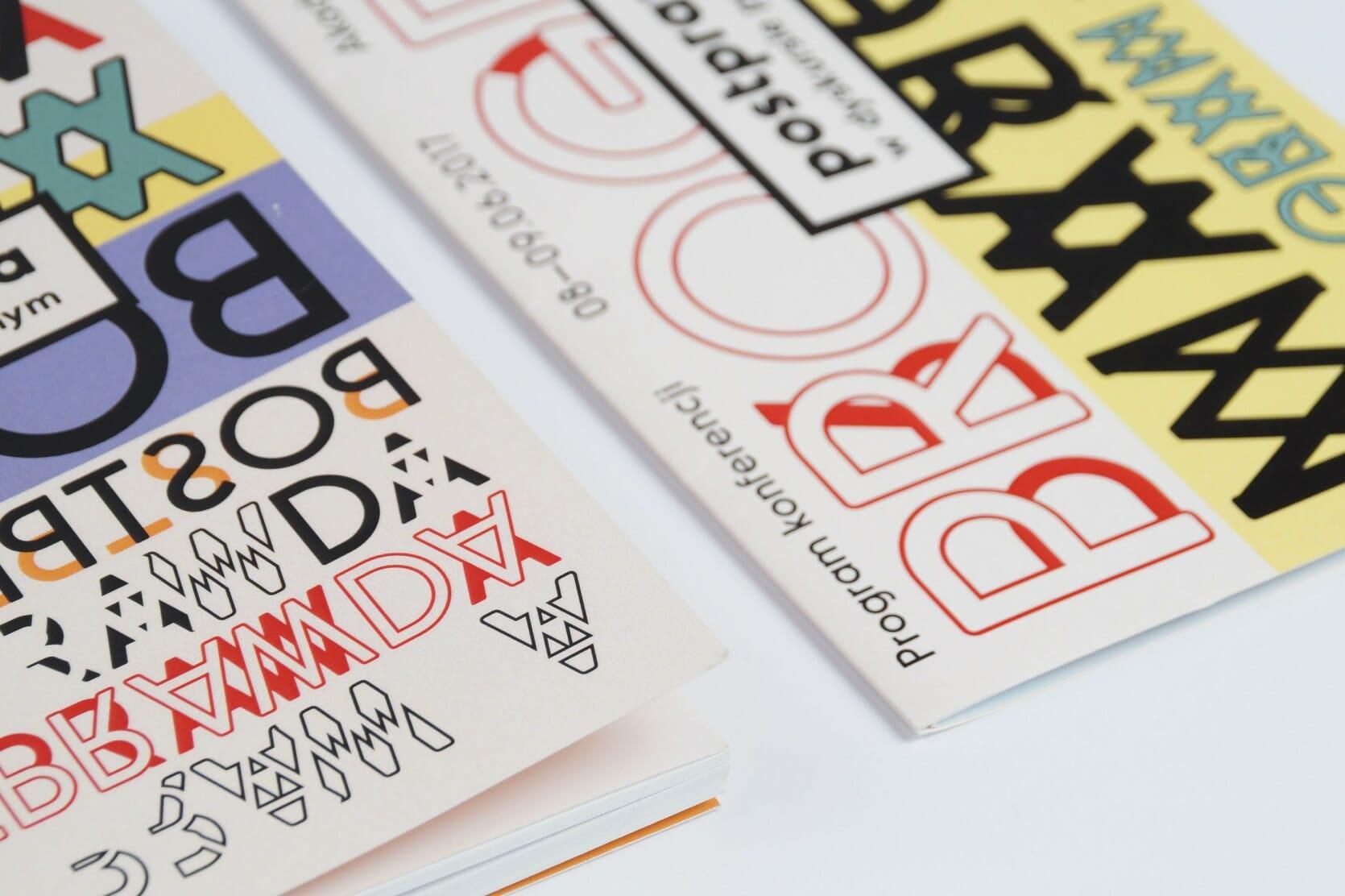 Elements of visual identity — leaflet, programme — closeup