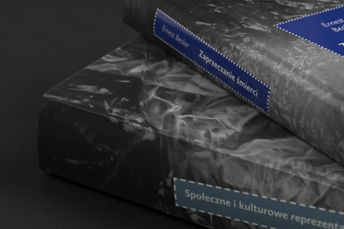 Thanatos Book Series - two volumes - closeup - spine