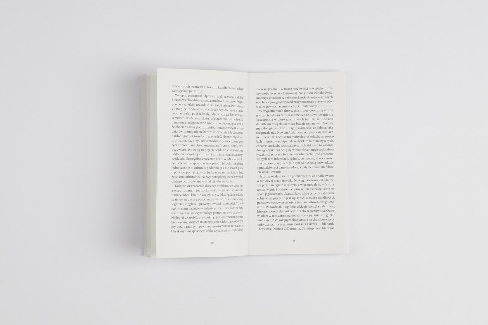 Projekt książki - układ typograficzny