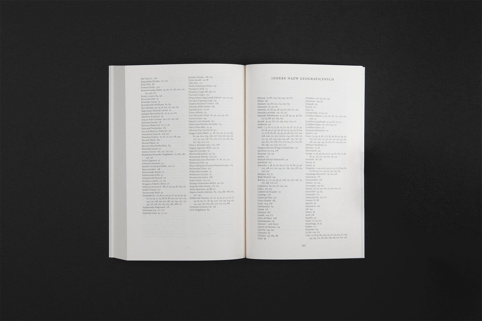 Pishtaco - projekt wnętrza książki